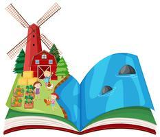 boerderij scène pop-up boek