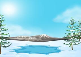 Szene in der Winterszene