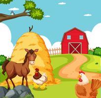 Djur på jordbruksmarken