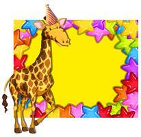 Giraffe auf bunter Grenze