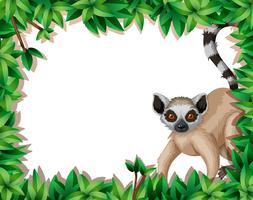 Lemur en marco de la naturaleza