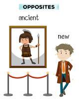 Palabra opuesta de la antigua nueva