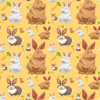 Diffrent rabbit o seamless wallpaper vector