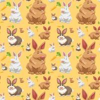 Diffrent rabbit o seamless wallpaper