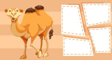 camel on border frame