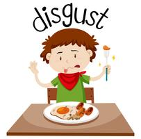 English vocabulary word disgust vector