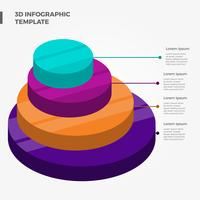 Modèle de vecteur d'éléments 3d infographie plat