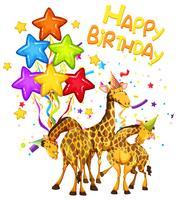 Giraffe auf Geburtstagsschablone