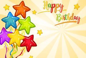 Conceito de cartão de feliz aniversário