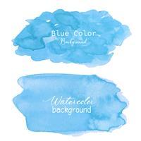 Fond aquarelle abstrait bleu. Élément d'aquarelle pour la carte. Illustration vectorielle