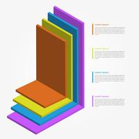 Flat Färgrik 3D Infographic Elements Vector Mall