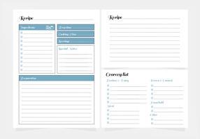Vector Recipe Printable Template