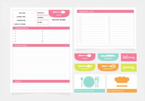 Vector Recipe Printable Template