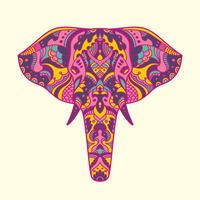 Painted elephant illustration vector