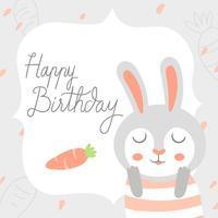 Feliz cumpleaños animal conejo