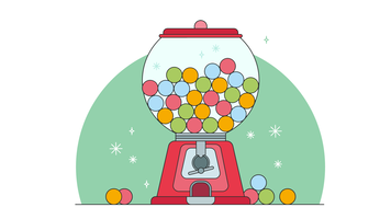 Candy Vending Vector