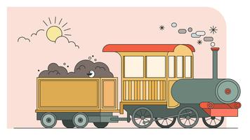 Vetor de trem de carga