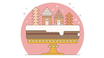 Vecteur de gâteau de noël