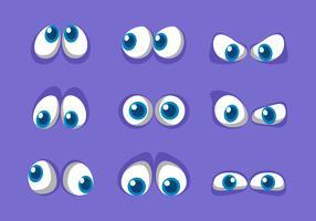 Blue Cartoon Eyes Vector