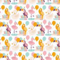 Vektor-nahtloses Geburtstags-Tier-Muster