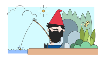 gnome napping vector