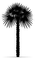 Palm Tree schwarzer Umriss Silhouette Vektor-Illustration