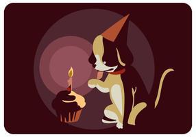Hundens födelsedagsvektor