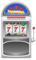illustrazione vettoriale di slot machine