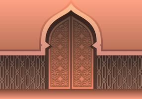Mosque Door Vector
