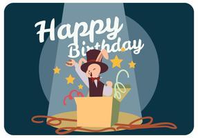Grattis på födelsedagen från Mr.Bunny Vector