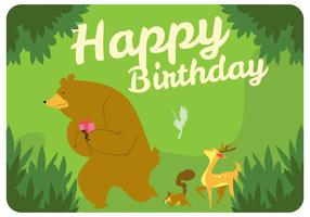 Forest Birthday Party Vector