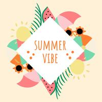 Cool Summer Background Illustration