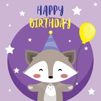 Feliz aniversário animais vector
