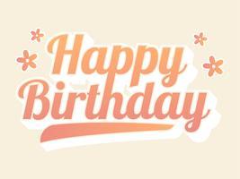 Gelukkige verjaardag belettering