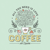 All You Need Is Coffee Typography