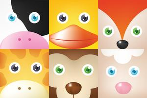 Animal Face Vector Pack