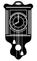clock old retro vintage icon stock vector illustration black outline silhouette