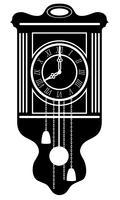 Uhr alte Retro Vintage Symbol Lager Vektor-Illustration schwarzer Umriss Silhouette