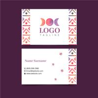 Watercolor Boho Business Card