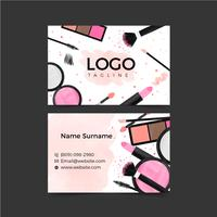 Make Up Business Card Template