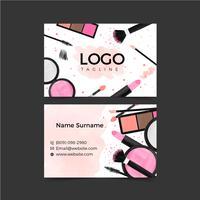 Make-up sjabloon voor visitekaartjes