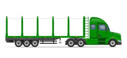 caminhão semi reboque para transporte de ilustração vetorial de mercadorias