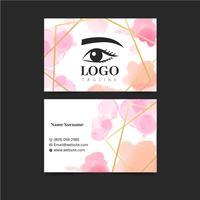 Aquarel Make-up Artiest Sjabloon voor visitekaartjes