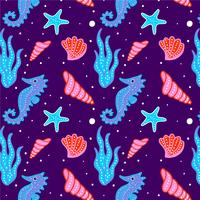 Cute Coral Sea Pattern vector