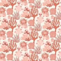 Vettore Coral Reef Seamless Pattern