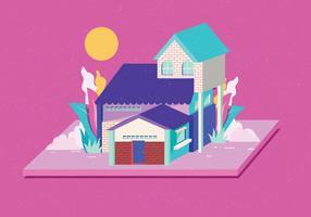 Isometrische huis Vector