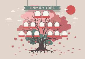 Family Tree Template  Vol 2 Vector