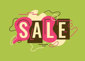 Sale typography design