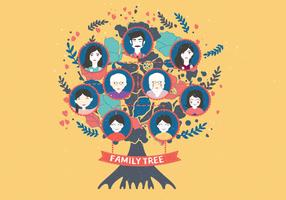 Family Tree Template Vol 4 Vector