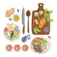 Illustration de choix santé vecteur